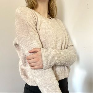 Garage Fuzzy Light Pink Sweater Size S